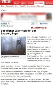 Besoffener Jäger schießt auf Rentner und Hund!