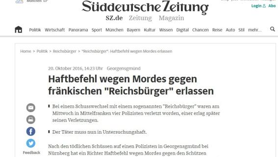 Reichsbürger und Jäger schießt auf Polizisten
