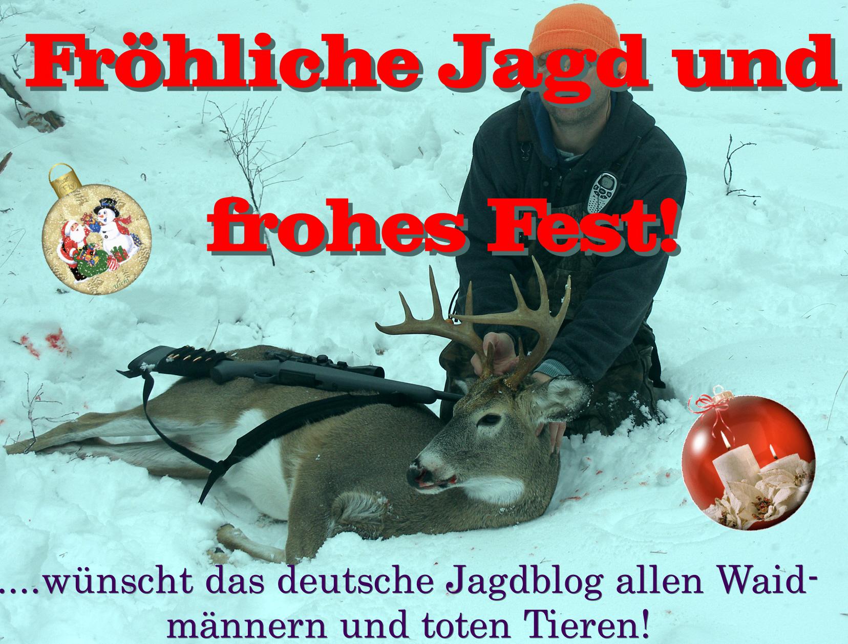 Frohe Weihnachten Jager.Weihnachten Im Wald Die Jagd